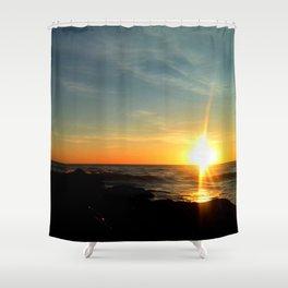Oceanic dawn 2 Shower Curtain