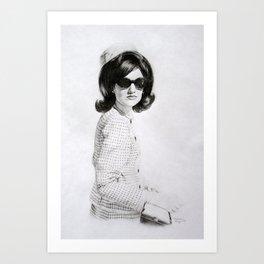 Jackie Kennedy Art Print