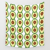 band Wall Tapestries featuring avocado band by saustian