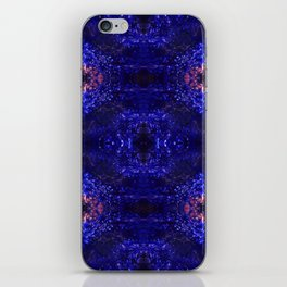 Psycho - Deep Blue and Pink Pattern Abstract by annmariescreations iPhone Skin