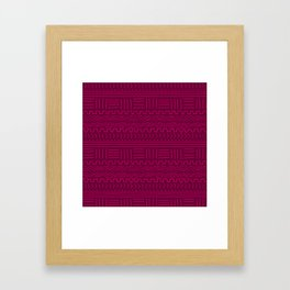 Mud Cloth in Raspberry Framed Art Print