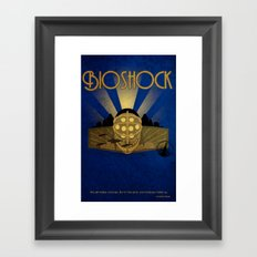 Bioshock rapture illustration Framed Art Print