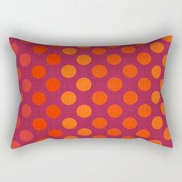 """""""Warm Burlap Texture & Polka Dots"""" Rectangular Pillow"""