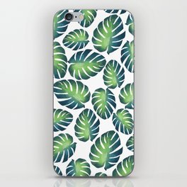Philodendron - Tropical Leaves Watercolor iPhone Skin