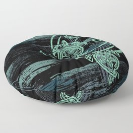 Abstract Tribal Turtles Floor Pillow