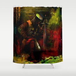 The prayer of the Knight Templar Shower Curtain