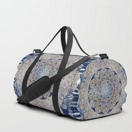 Celtic Boho Mandala Shibori Duffle Bag