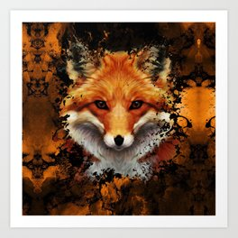 Cool Fox Art Print