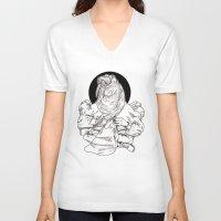walrus V-neck T-shirts featuring Walrus by Hopler Art