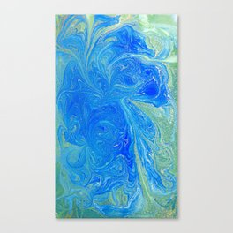 Blue & Green Watercolor Canvas Print