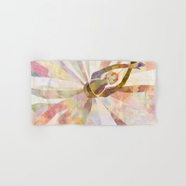 Sleeping Ballerina Floral - Gold Summer Palette Hand & Bath Towel