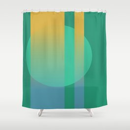 The Moon Behind the Skyscraper Shower Curtain