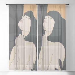 Tropical Girl 14 Sheer Curtain