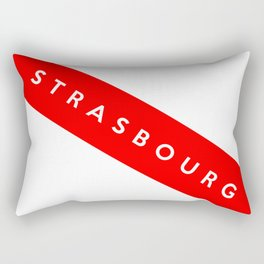 strasbourg city france country flag name text Rectangular Pillow