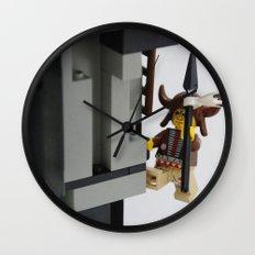 Lego Indian climbing Wall Clock