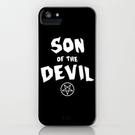 Son of the Devil iPhone Case