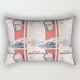 Reprint of British wartime poster. Rectangular Pillow