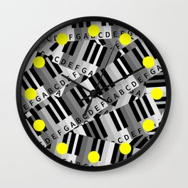 Piano Keys Wall Clock