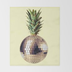 ananas party (pineapple) Throw Blanket