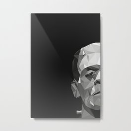 Frankenstein Poly Art Metal Print