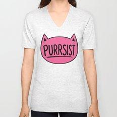 Purrsist Cat Unisex V-Neck