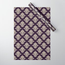 Purple Vintage Skull Pattern Wrapping Paper