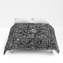 Mayan Spring B&W II Comforters