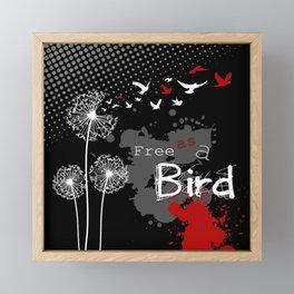 Trash Polka Dandelions Blow Into Birds Framed Mini Art Print