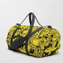 Yellow flying fishes Duffle Bag
