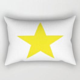 Yellow star on white Rectangular Pillow
