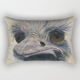 Ostrich, Ostrich Painting, by Faye Rectangular Pillow