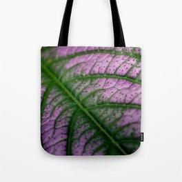Violet Leaf Tote Bag