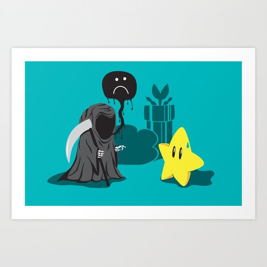 Death's worst enemy Art Print