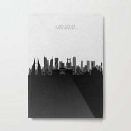 City Skylines: Manama Metal Print