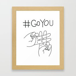 #GoYou Framed Art Print