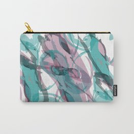Abstract Violet & Teal Watercolor Carry-All Pouch