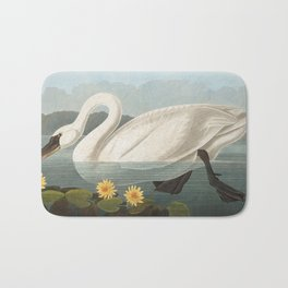 Common American Swan by John James Audubon Bath Mat