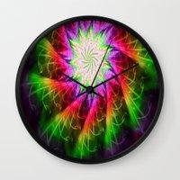 chakra Wall Clocks featuring Star Chakra by Muertorita