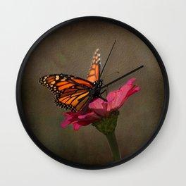 Prefect Landing - Monarch Butterfly Wall Clock