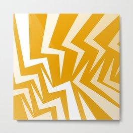 Fangs Series - Orange Metal Print