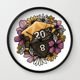 Honeycomb D20 Tabletop RPG Gaming Dice Wall Clock