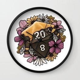 Honeycomb D20 Tabletop RPG Gaming Dice Wall Clock