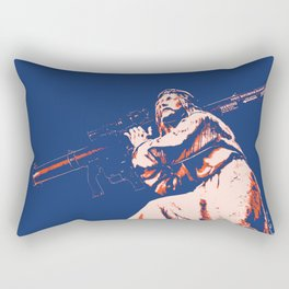 Rocket Propelled Christ - Who WOuld Jesus Blow Up Rectangular Pillow