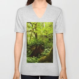 Rainforest Ferns Unisex V-Neck