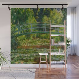 Claude Monet Impressionist Landscape Oil Painting-The Japanese Footbridge and the Water Lily Pool Wall Mural