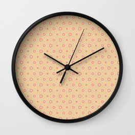 Children wallpaper background with circles and ornaments Wall Clock