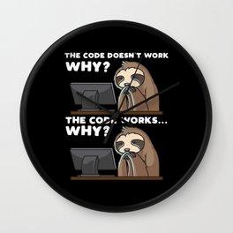 Computer Scientist Programmer Computer Funny Wall Clock
