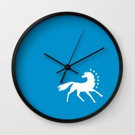 Caballo Blanco - White Horse Wall Clock