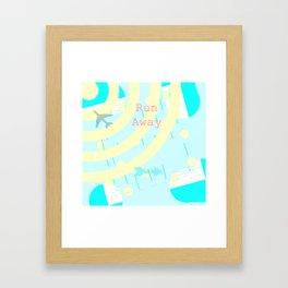 Run away Framed Art Print