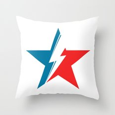 Bowie Star white Throw Pillow